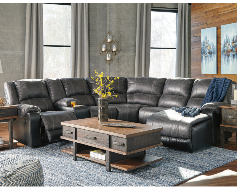 Ashley Nantahala Slate Reclining Rent To Own Sectionals A Rentals