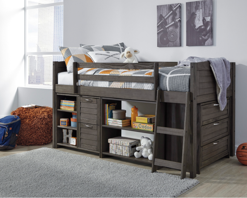 Ashley Catibrook Loft Bed With Storage Rent To Own Youth Bedroom Packages A Rentals